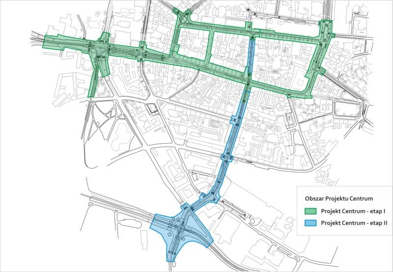 Projekt Centrum mapa