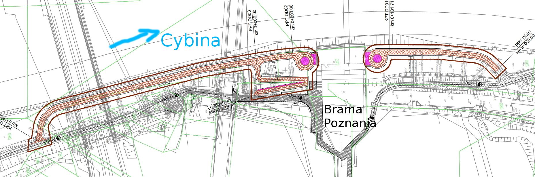 Wartostrada Brama Poznania ślimaki zawracanie rowery projekt