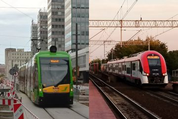 Dzień bez samochodu tramwaj pociąg Poznań korki