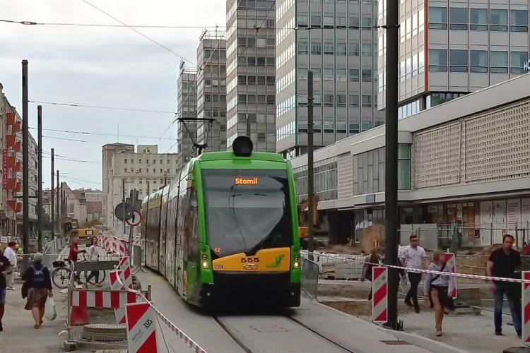 Poznań Święty Marcin tramwaj autobus transport zbiorowy MPK ZTM