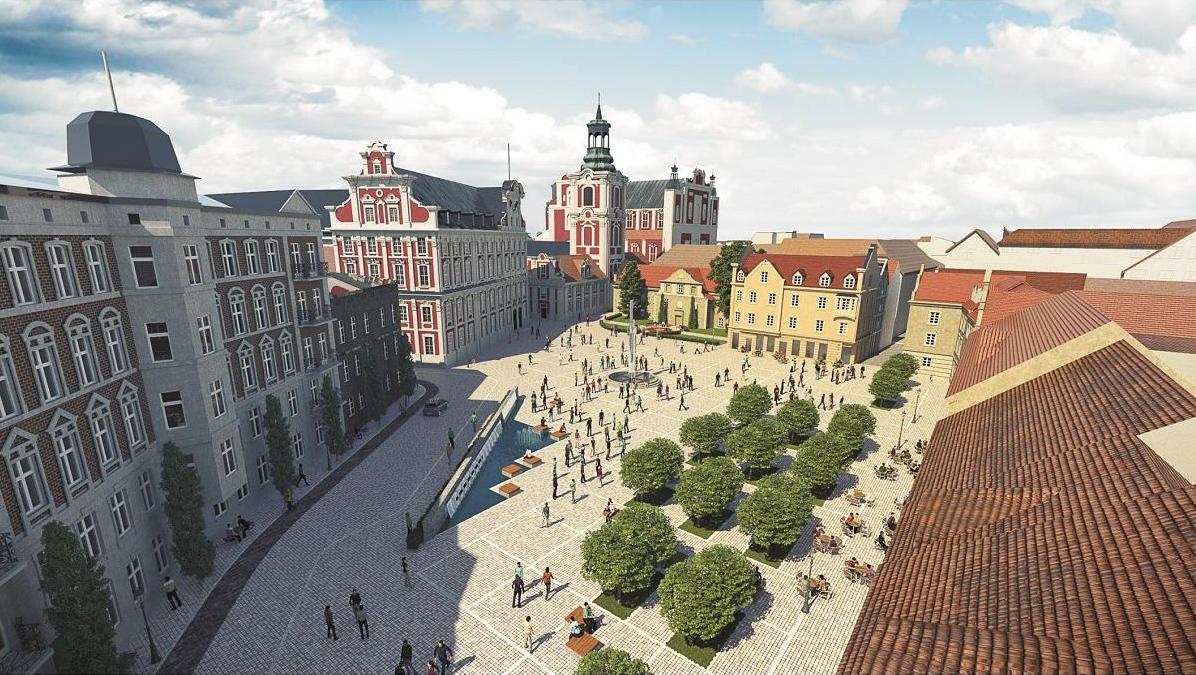 Plac Kolegiacki Poznań przebudowa wizualizacja 5