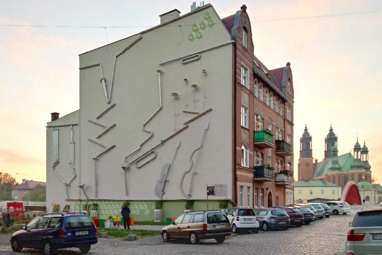 Śródka Zielona Impresja mural instalacja artystyczna Poznań