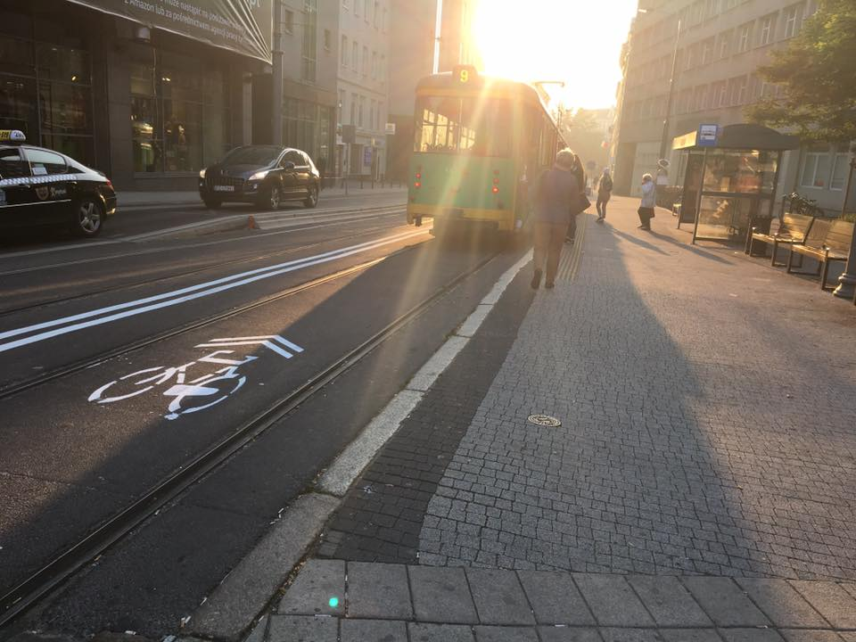 Strzelecka Poznań rowery kontraruch rowerowy Półwiejska