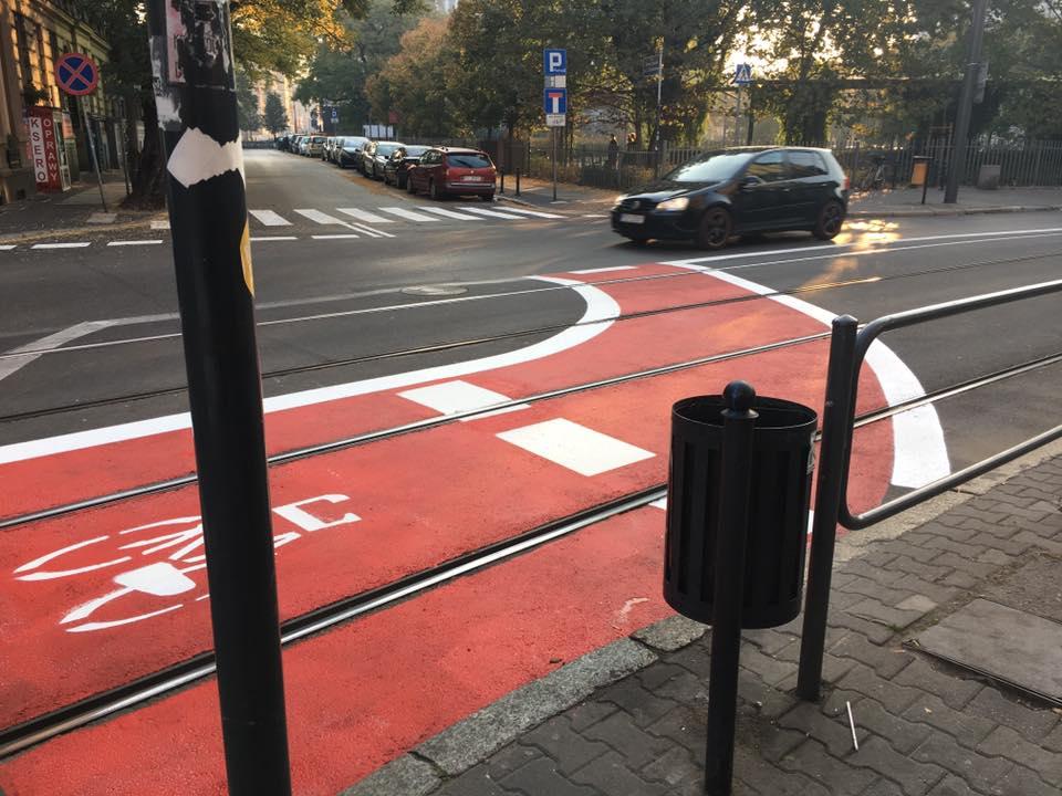 Strzelecka Poznań rowery kontraruch rowerowy Zielona