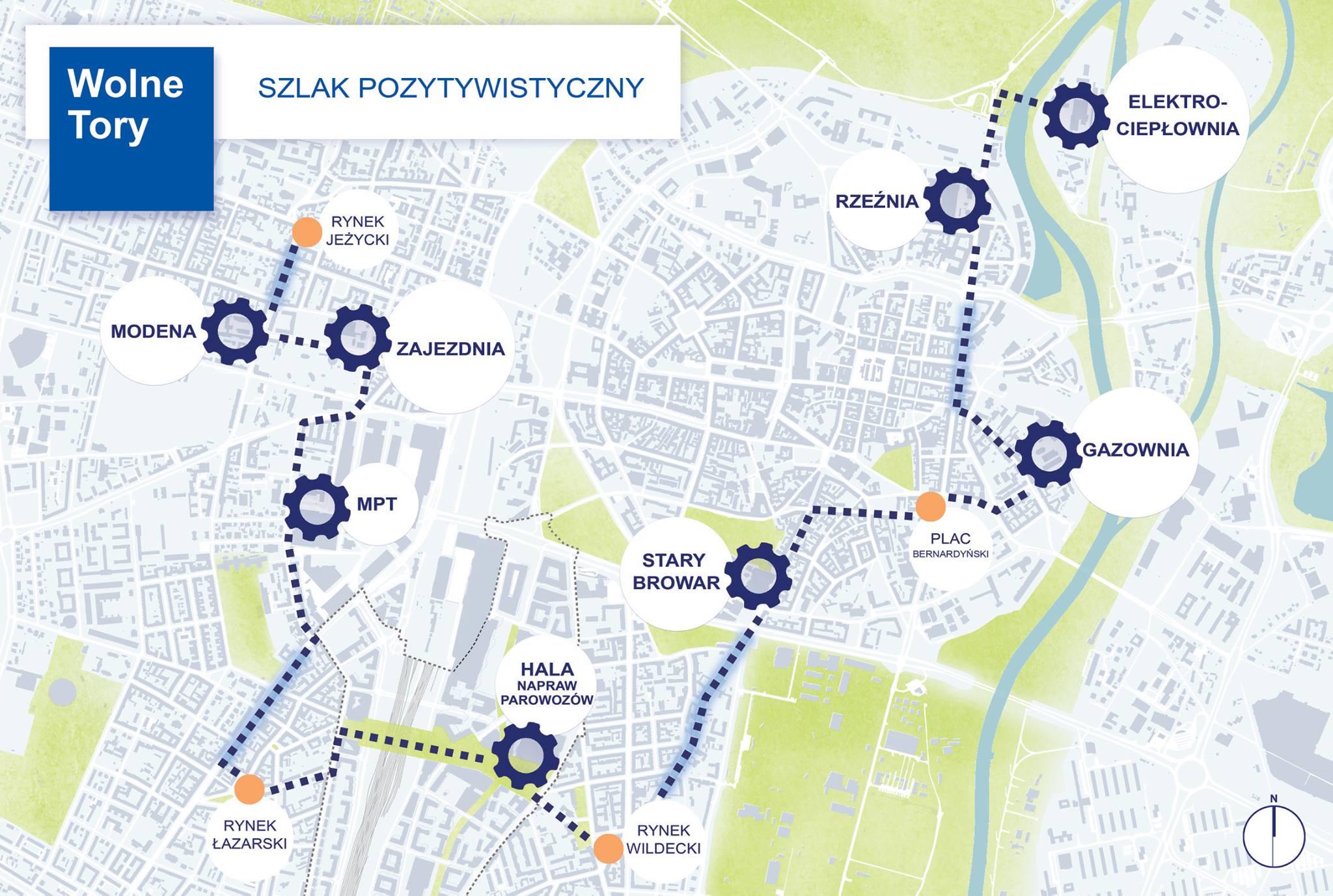Poznań Szlak Pozytywistyczny trasa mapa