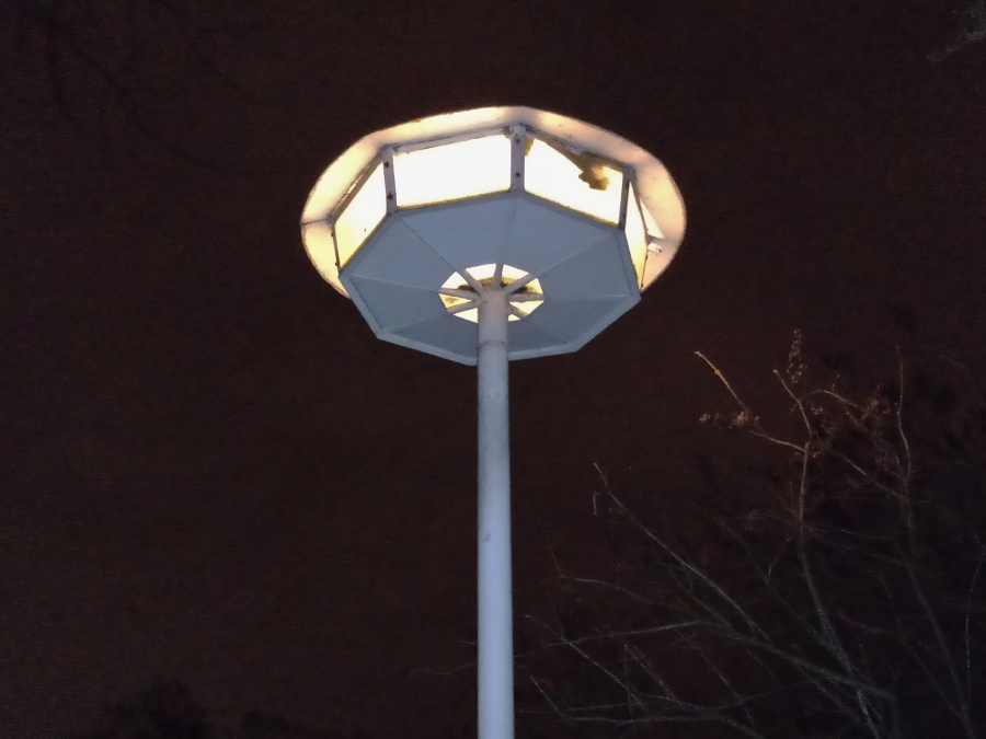 Poznań Park Wilsona Łazarz latarnie