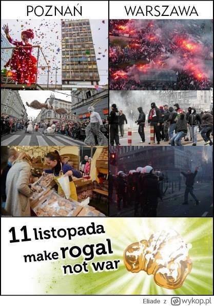 Poznań 11 listopada Make Rogal not War Święto Niepodległości