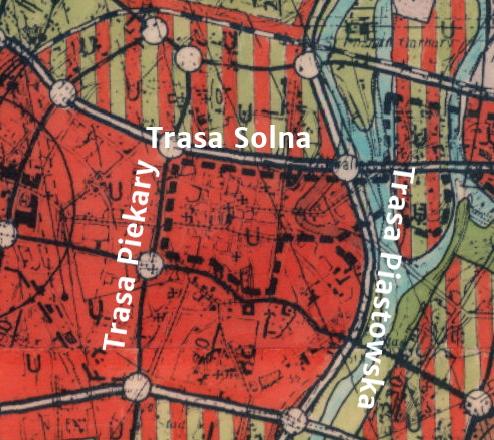 Poznań plan ogólny Wartostrada Trasa Piastowska