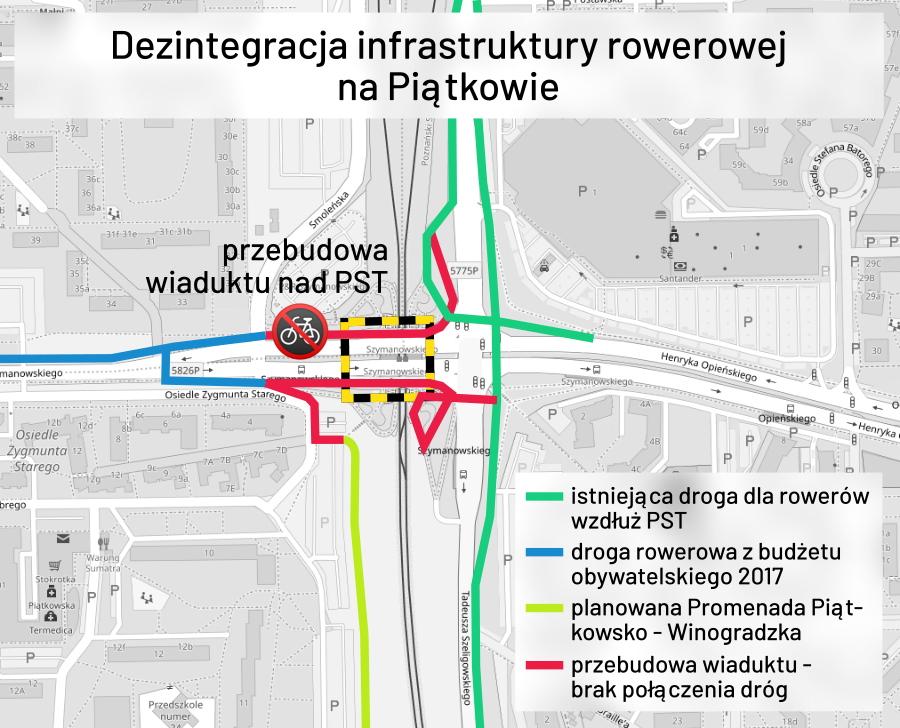 Poznań Szymanowskiego wiadukt PST rowery PIM