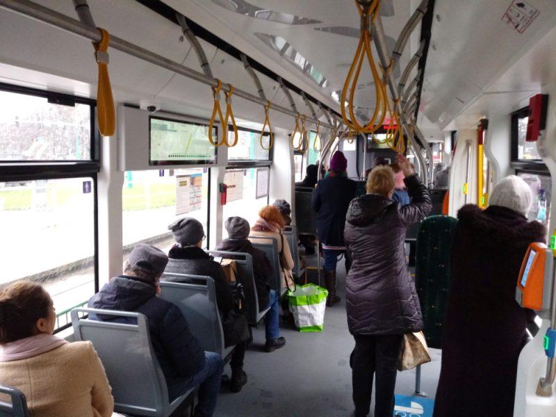 MPK Poznań Moderus Gamma wnętrze tramwaj Modertrans
