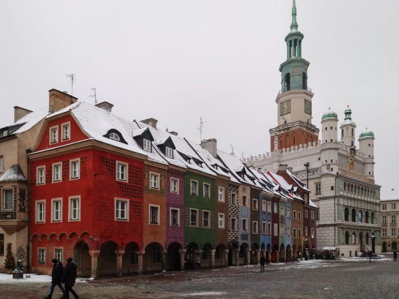 Poznań zima śnieg Stary Rynek