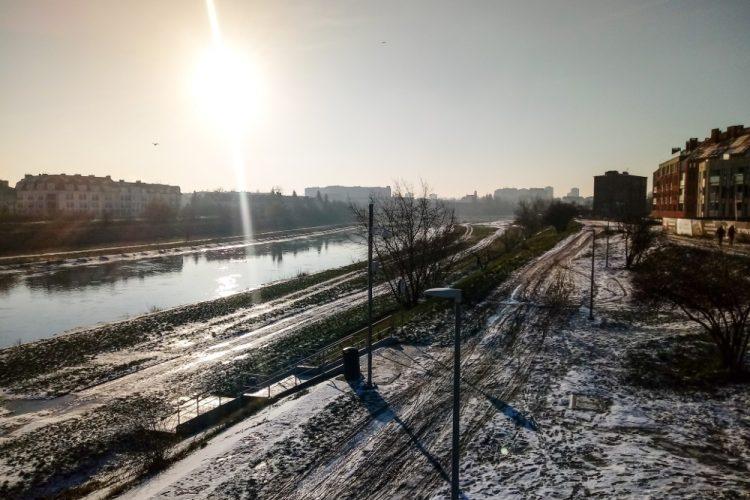 Poznań zima Warta mróz pogoda