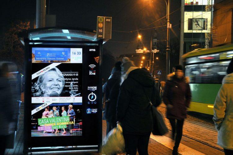 Poznań reklama digital citylight wiata