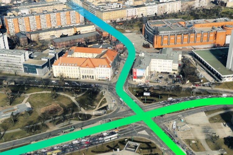 Poznań tramwaj w Ratajczaka Projekt Centrum