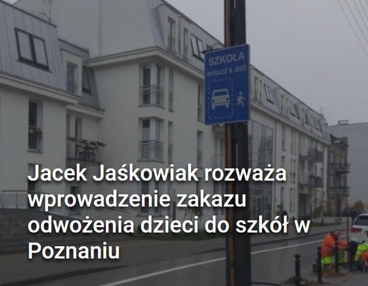 Poznań zakaz dowozu dziecka