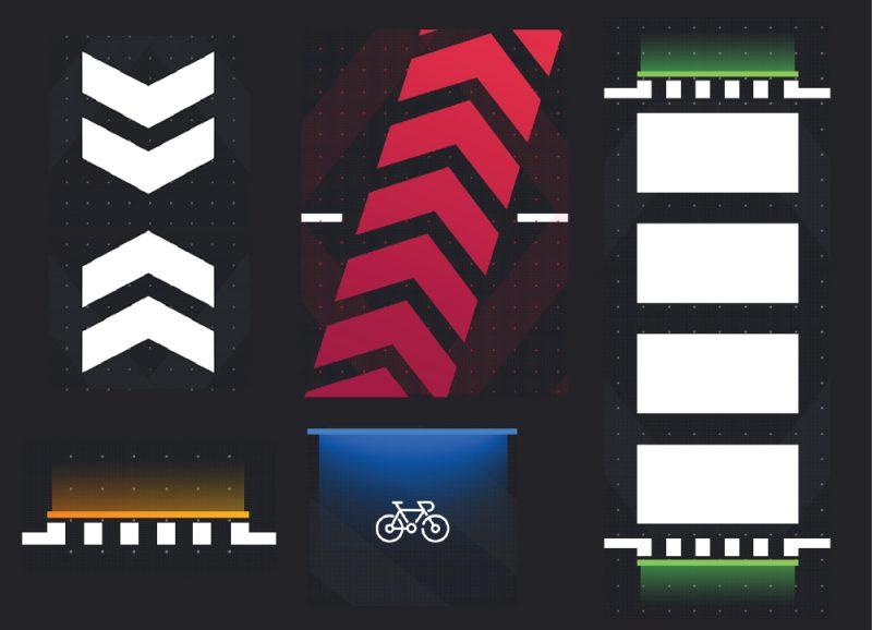 Symbole na interaktywnym przejściu dla pieszych