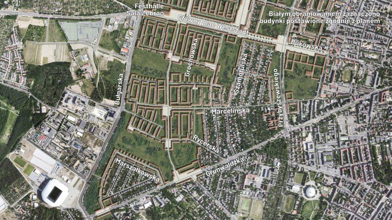 Weststadt Poznań na Grunwaldzie - rekonstrukcja planu