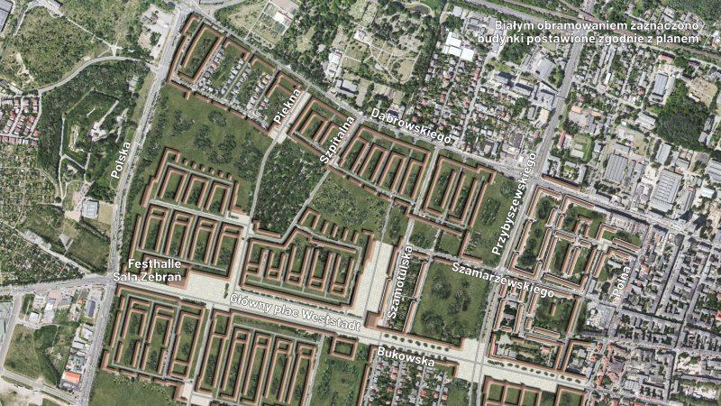Plan na Poznań Bangert Weststadt Jeżyce Ogrody