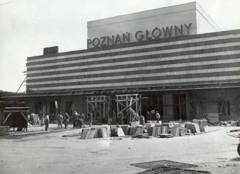 Poznań Główny modernizm przebudowa z lat 70. XX wieku