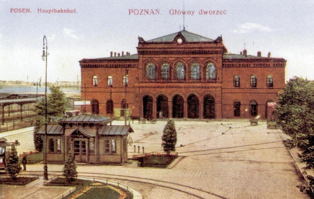 Stary dworzec Poznań Główny pocztówka