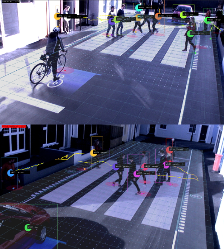 interaktywne przejście dla pieszych - rozpoznawanie pieszych, kierowców