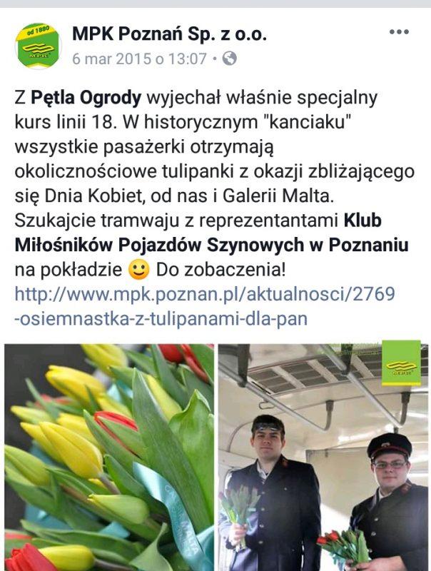 MPK Poznań Dzień Kobiet 2015