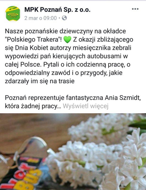 MPK Poznań postuje także w weekendy