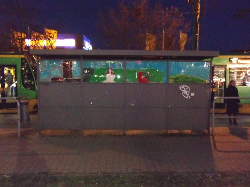 Kórnicka przystanek jak malowany Poznań