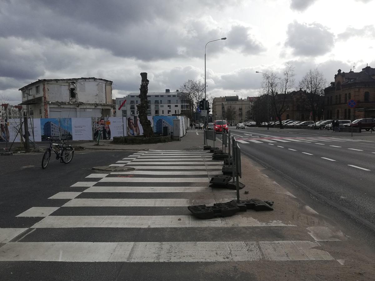 Ulica Szyperska Garbary przy Starej Rzeźni Poznań