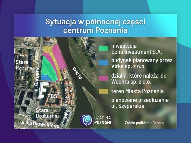 Poznań Garbary Szyperska Piaskowa sytuacja