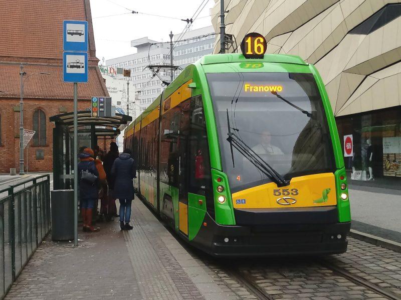 Poznań transport zbiorowy Solaris Tramino tramwaj