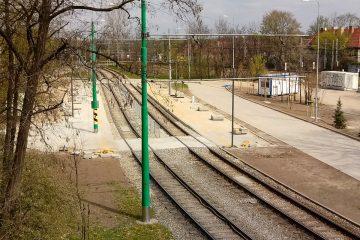 Poznań Most Teatralny PST przebudowa platformy przystankowe