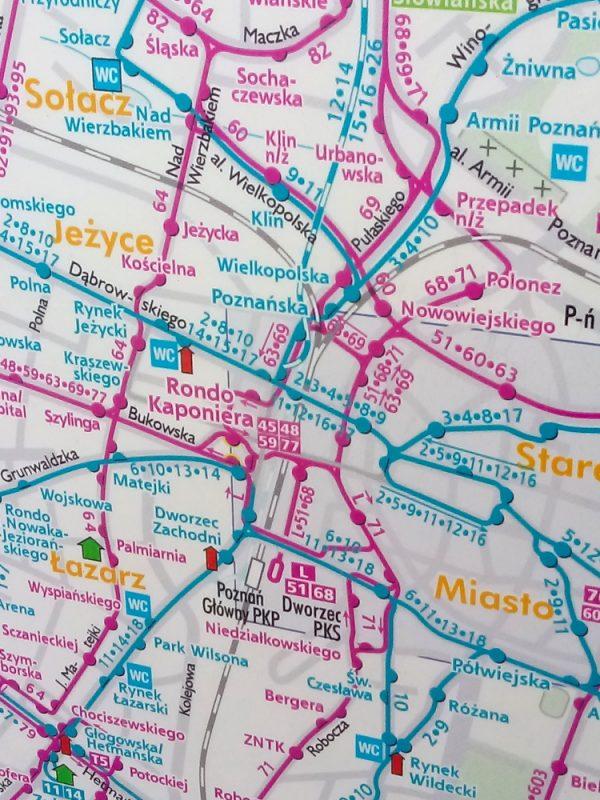 Poznań Most Teatralny PST przebudowa nieaktualne mapy transportu
