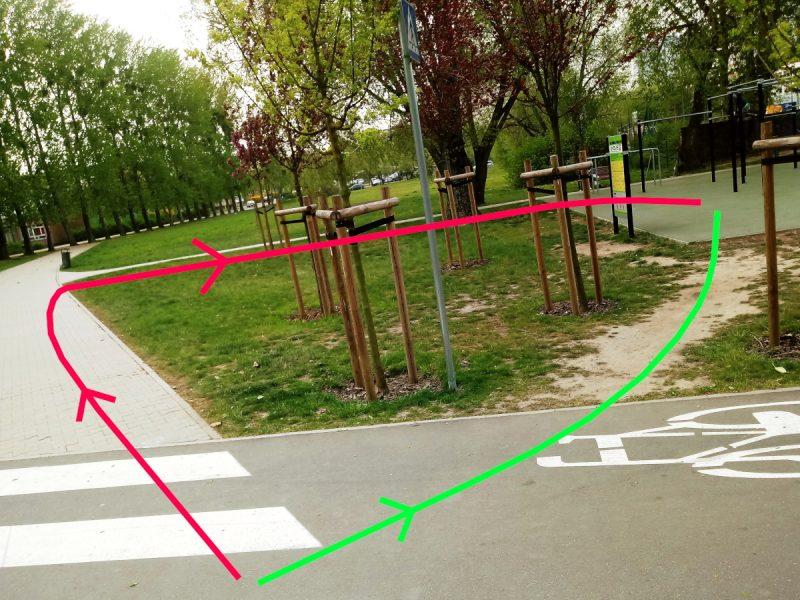Park Rataje niewłaściwy projekt - wydeptanie ścieżki