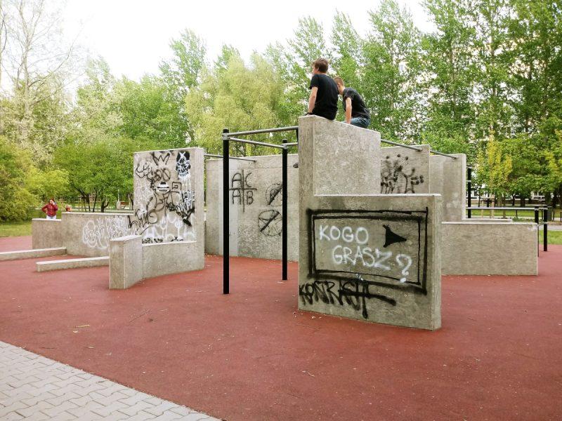 Poznań Park Rataje street workout siłownia kalistenika