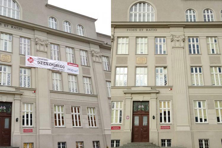 Poznań nielegalne reklamy zabytki kościół