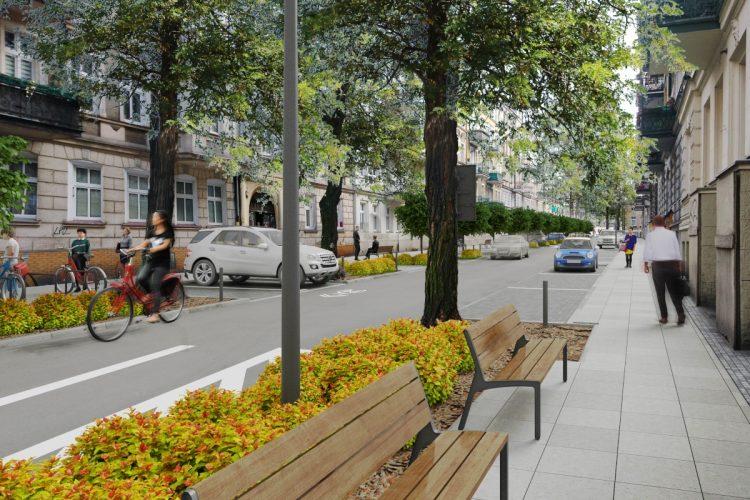 Poznań ulica Kilińskiego po przebudowie