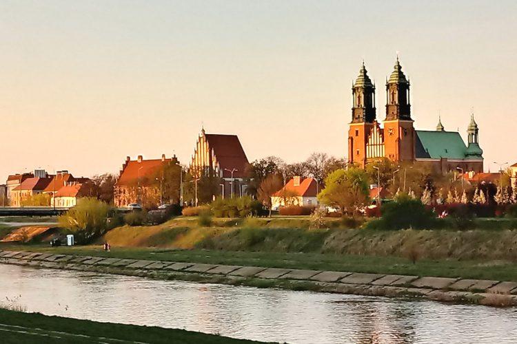 Poznań: Warta, Ostrów Tumski, katedra, piękna pogoda