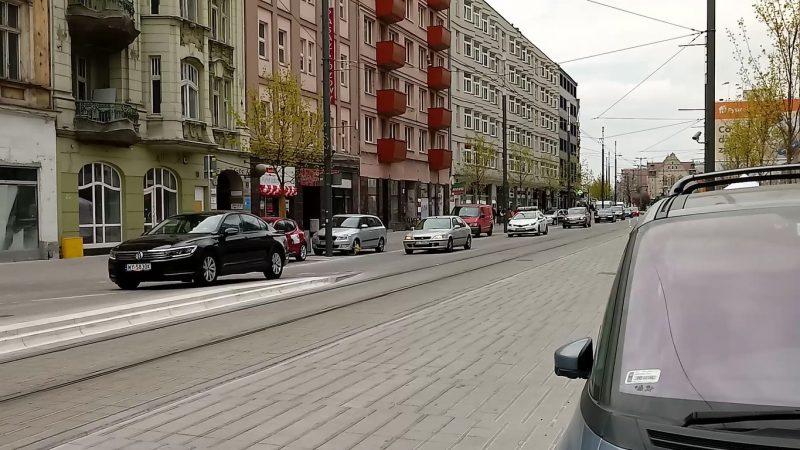 Poznań Święty Marcin strefa zamieszkania niebezpieczeństwo tranzyt przez centrum