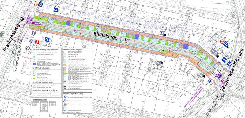 Poznań ulica Kilińskiego konsultacje projekt przebudowy