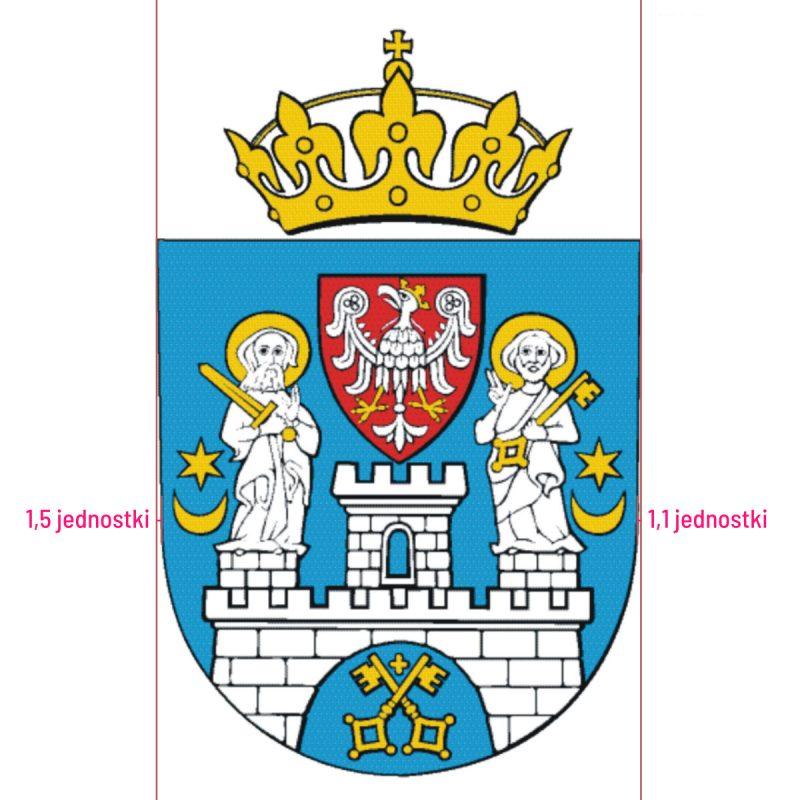 Poznań herb miasta krzywy rysunek historia