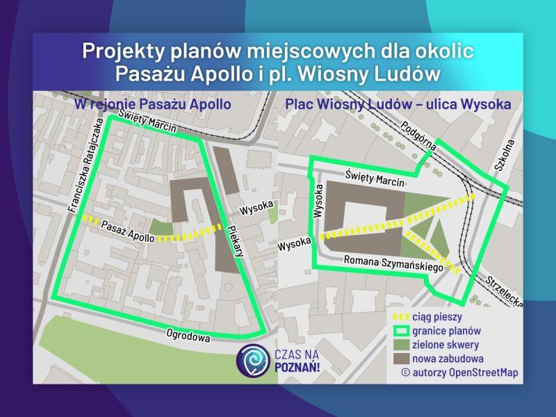 Poznań Pasaż Apollo plac Wiosny Ludów MPU MPZP