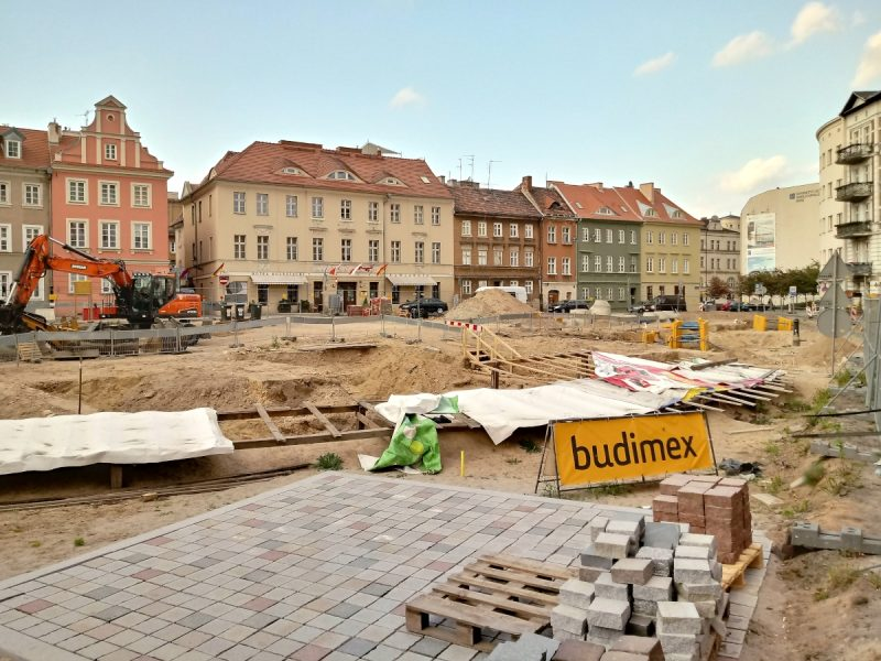 Poznań kolegiata Plac Kolegiacki ruiny
