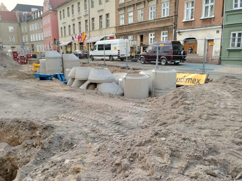 Instalacje podziemne i rury - Plac Kolegiacki, rewitalizacja