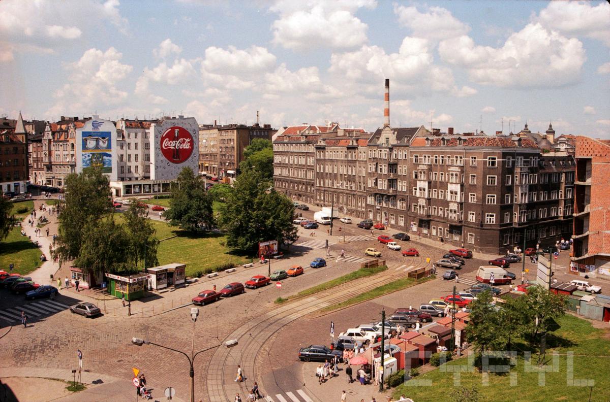 Plac Wiosny Ludów przed budową Kupca Poznańskiego - Poznań, CYRYL