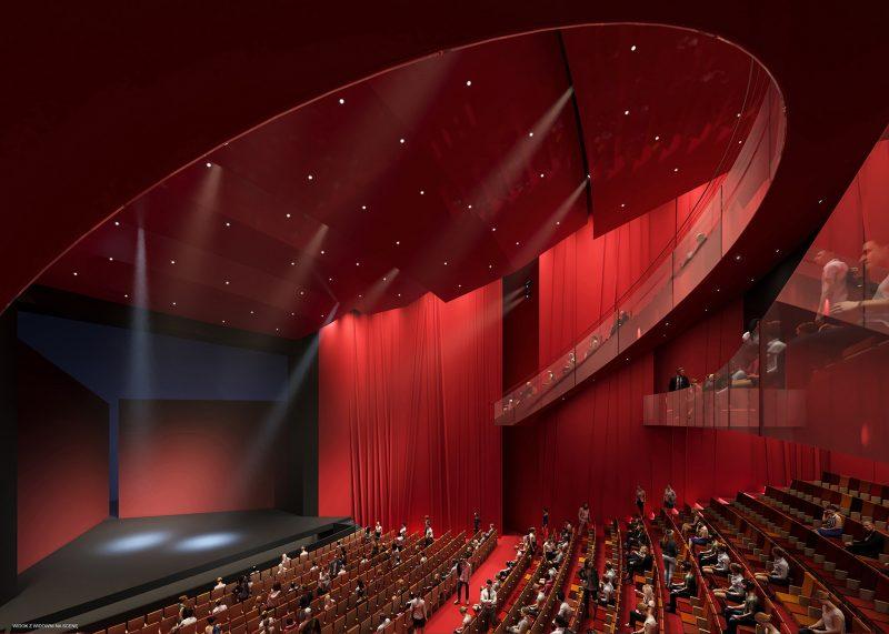 Scena główna Teatru Muzycznego - wnętrze budynku
