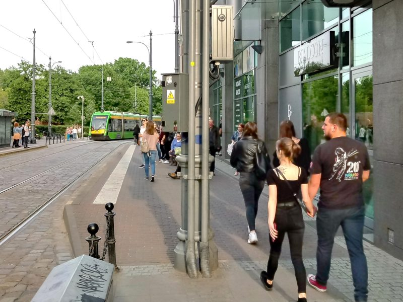 Poznań Wrocławska wypadek - uderzenie w skrzynkę