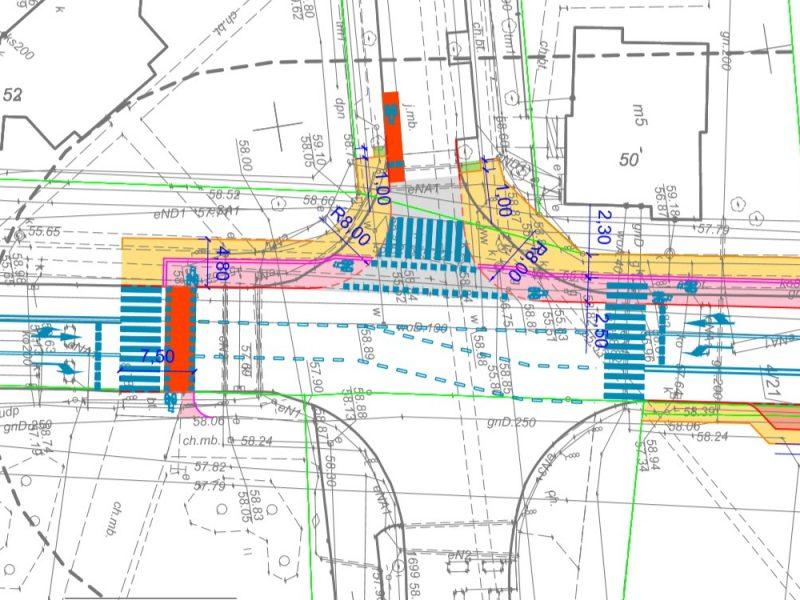 ZDM projekty drogowe przykładowy rysunek