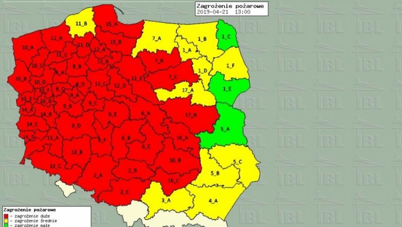 Susza Poznań zagrożenie pożarowe globalne ocieplenie