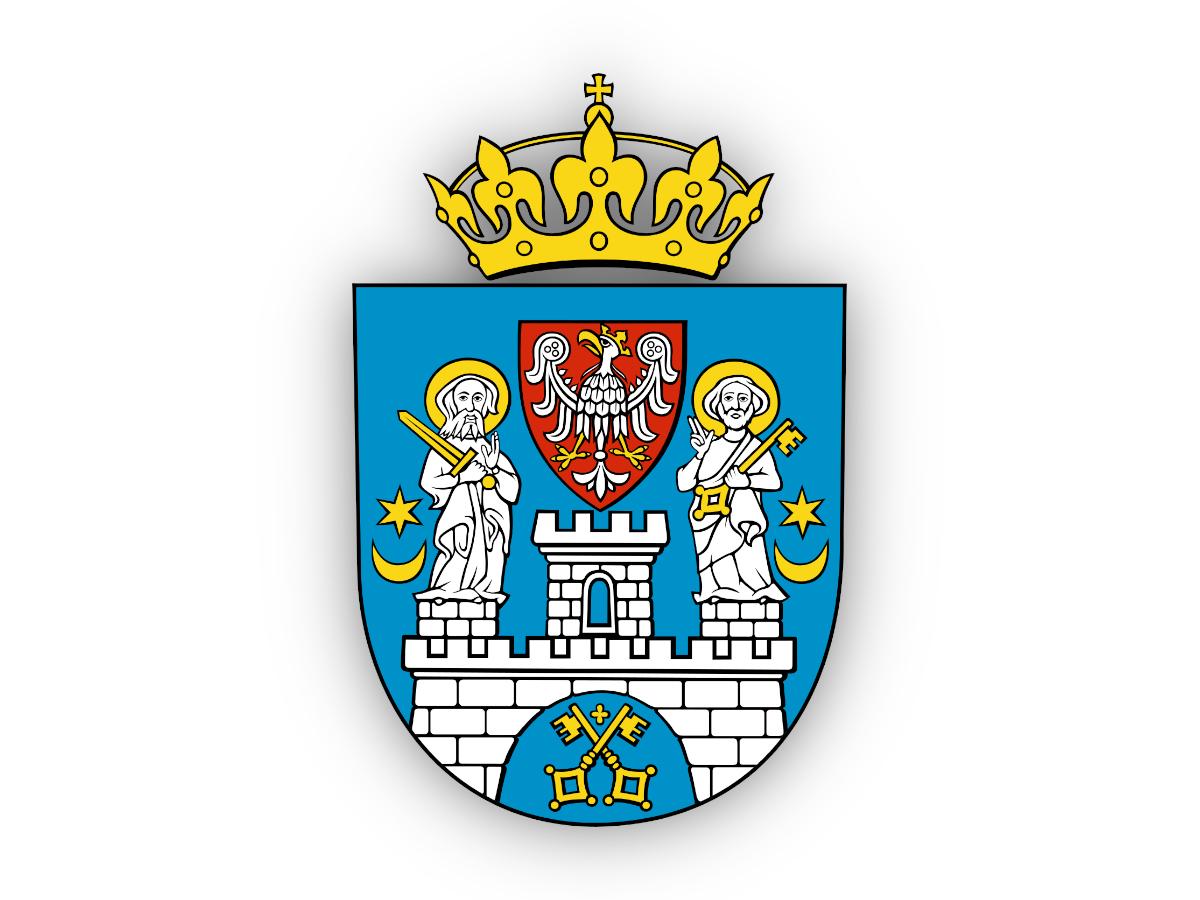 Poznań Herb Miasta Poznania Piotr i Paweł heraldyka